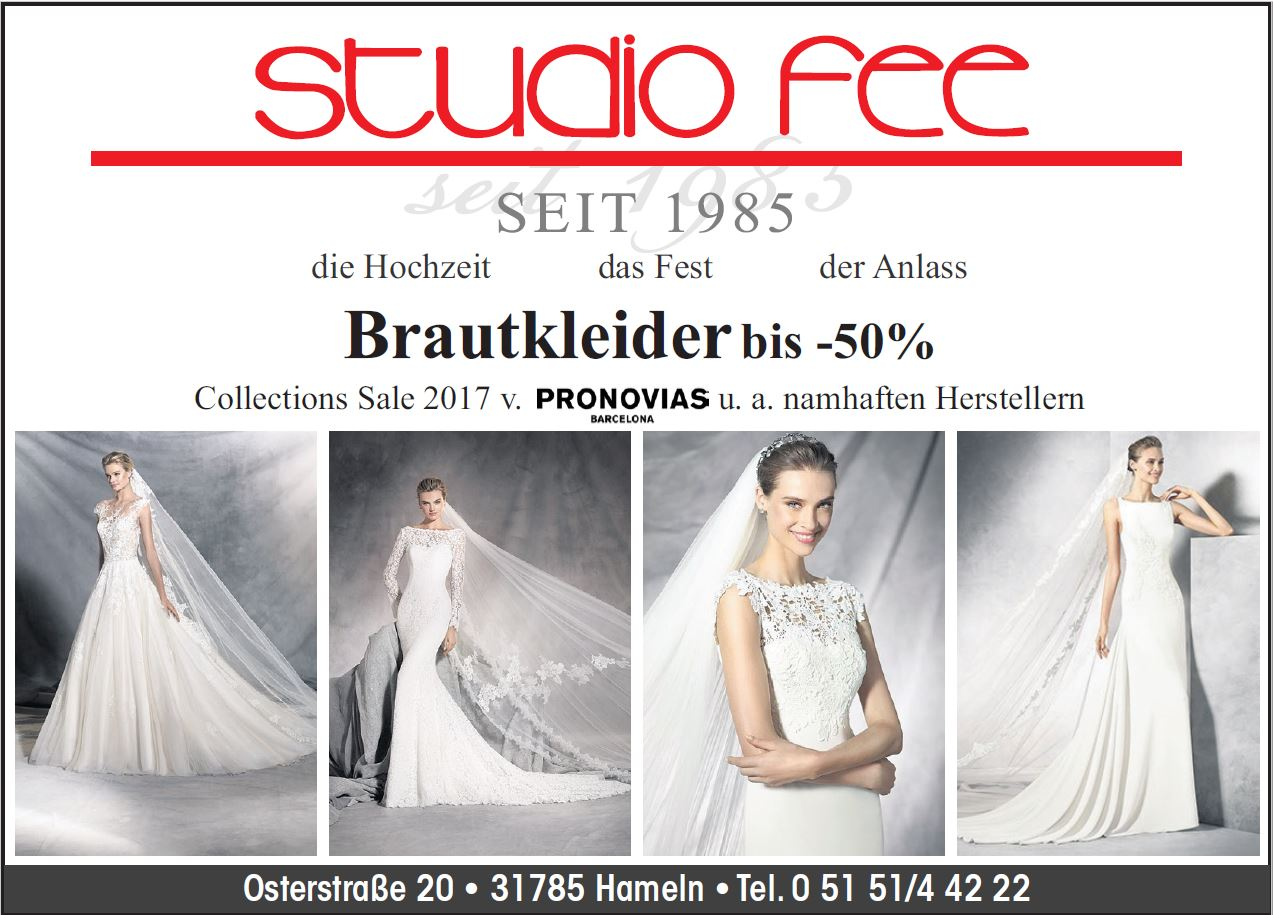 Alle Aktionen und Neuigkeiten im Überblick - Studio Fee in Hameln