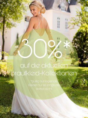 30% Auf Aktuelle Brautkleider